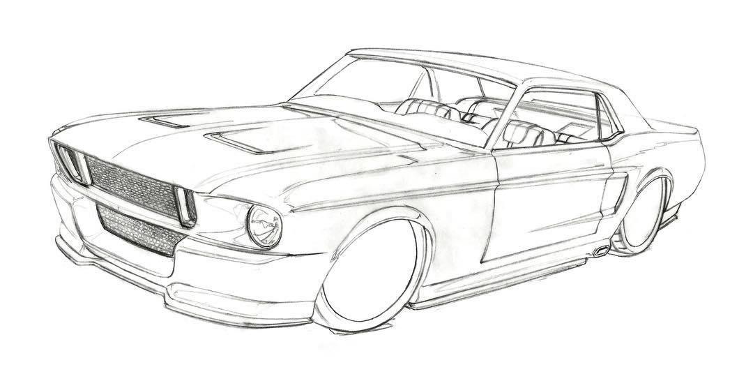 Corruptt Mustang Sketch
